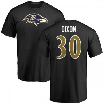 Men's Kenneth Dixon Baltimore Ravens Name & Number Logo T-Shirt - Black
