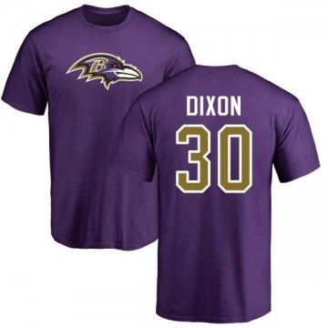 Men's Kenneth Dixon Baltimore Ravens Name & Number Logo T-Shirt - Purple